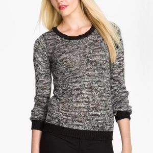 JOIE Lucid Black Grey Wool Alpaca Blend Sweater M
